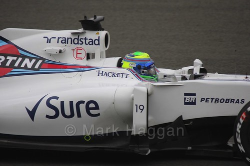 Felipe Massa in his Williams during Free Practice 1 at the 2016 British Grand Prix