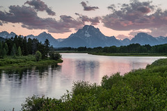 Oxbow Bend (Jeremy Duguid) Tags: grand teton national park tetons oxbow bend mountains peaks clouds sunset dusk evening summer travel nature traveling travels beauty jeremy duguid trees hiking outdoors reflection snake river jackson hole wyoming wy western west