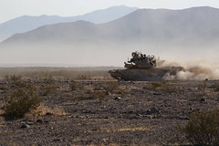 Tank Maneuvers (pao3abct) Tags: 3rdarmoredbrigadecombatteam 3abct 4thinfantrydivision 4id 410cav 166armorregiment 168armor abrams tank bradley ntc national training center fortirwin nationaltrainingcenter army fortcarson