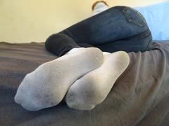 White Ankle Socks (sockstargirl) Tags: socks sockfetish sexysocks sexyfeet soles smelly sweaty footfetish feet femalefeet