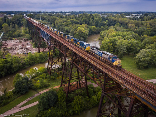 CSX on the Marcy Trestle