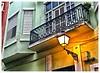 Balcones Sanjuaneros (San Juan Balconies) (SamyColor) Tags: canon50d tamron28mmf25adaptall2 lampara lamp lamparacallejera streetlamp sanjuan oldsanjuan viejosanjuan puertorico