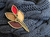 Autumn leaves (Pin it) Tags: leaves leaf autumn red brown gold brooch zipper felt handmade pin