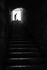 Sweeper (Mustafa Selcuk) Tags: backlit sweeper cleaner silhouette stairs travel suleymaniye sb siyahbeyaz bnw blackandwhite 16mm eminonu fujifilm istanbul street streetphotography turkey turkiye xpro2 blackwhite