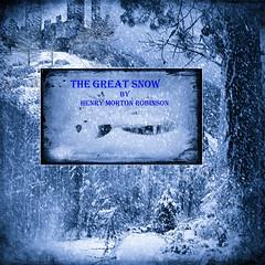 The-Great-Snow-Kaizen (laxwings) Tags: books kaizen awake snow newyork photoshopartistry photomanipulation blue blackwhite monotone