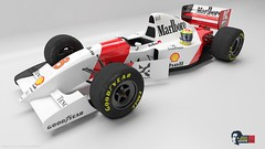 McLaren MP4/8 (William Kimura) Tags: wallpaper car race 3d maya helmet f1 mclaren 20 anos 93 sempre corrida senna automobilismo ayrton capacete mp48