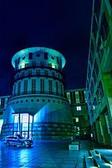Stuttgart by night (fritz.nico) Tags: blue sky night photoshop photography stuttgart police polizei langzeitbelichtung staatsgalerie
