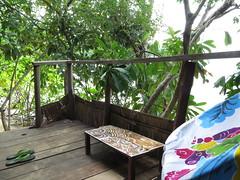 "Notre terasse à Coral beach <a style=""margin-left:10px; font-size:0.8em;"" href=""http://www.flickr.com/photos/83080376@N03/15572648603/"" target=""_blank"">@flickr</a>"