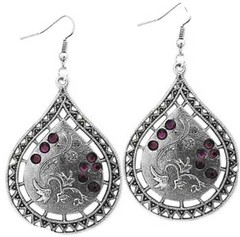 Glimpse of Malibu Purple Earrings P5410A-3