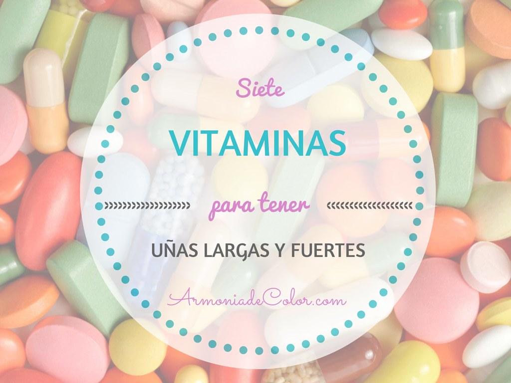 vitaminas para tener uñas largas