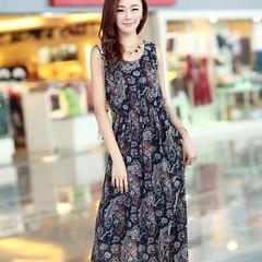 ชุดยาว แฟชั่นเกาหลีชีฟองลายวินเทจ Bohemian Dress สวยมาก ไซส์2XLและ3XL - พร้อมส่งTJ7124 ราคา1100บาท ชุดยาว Bohemian Dress ยาวแขนกุด เนื้อผ้าชีฟองพร้อมซับในใส่เป็นชุดเดรสยาว ชุดเดรสทำงาน ชุดพริ้วเลิศกว่าใคร สวยแบบนี้ต้องร้าน LOTUSNOSS เท่านั้นช้อปปิ้งเสื้อผ