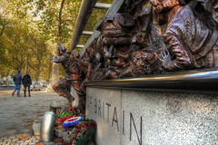 Battle of Britain Memorial (Lee Nichols) Tags: london photoshop memorial poppies warmemorial hdr highdynamicrange remembrancesunday photomatix redpoppies royalbritishlegion tonemapped tonemapping handheldhdr canoneos600d