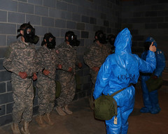 Va. Guard Soldiers gain confidence during CBRN training (Virginia Guard Public Affairs) Tags: virginia us nuclear biological chemical radiological cbrn cschamber m40protectivemask fortaphillbowlinggreen