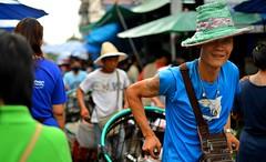 Chiang Mai Thailand (Ashit Desai) Tags: street blue sky people sculpture