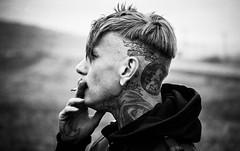 Nick (Shoedoer) Tags: portrait bw fall film tattoo analog 35mm blackwhite mechanical minolta sweden nickjones hansschumacher