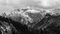 Over the mountaintops (Katigraphy) Tags: wild blackandwhite mountain snow alps landscape bavaria hiking free adventure füssen