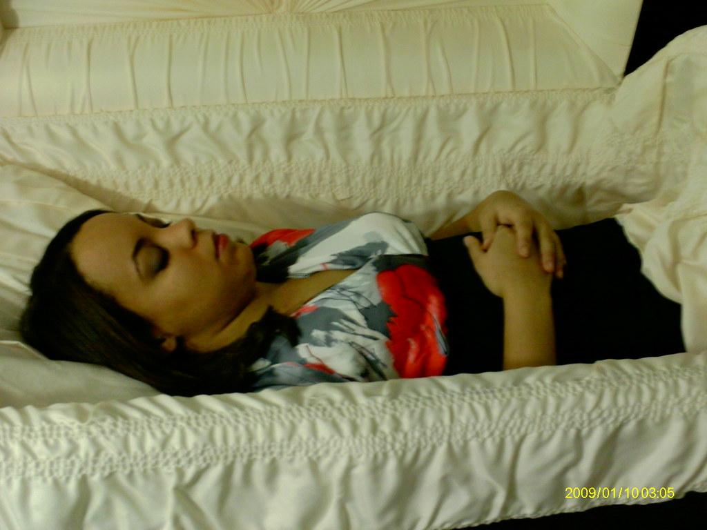 dead women in caskets