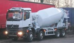 Brand new unregistered Mercedes cement mixer December 2014 (Bristol Viewfinder) Tags: mercedes cement mixer argos daf hypnos ipl