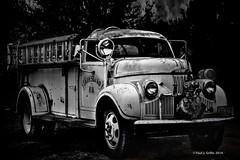 Smokin! (jackalope22) Tags: bw truck fire rust firetruck studebaker heap smokin jalopy fd lanesboro