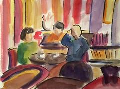 Le rubis - avenue du maine (Ktybrunet) Tags: paris caf restaurant aquarelle watercolour montparnasse brasserie