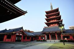 Five-storied Pagoda of Sensoji (akaryn) Tags: asakusa d700 colorskopar20mmf35slii