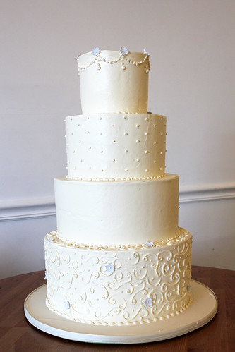 Buttercream Wedding Cake with Piping Texture