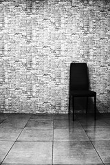 Never mind!! I'll find someone like you. (Willey 3K) Tags: life wallpaper white black love monochrome wall still chair sad lonely hdr