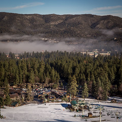 Fog in the Valley / View of the Base Area