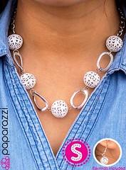 5th Avenue White Necklace K3 P2630-3