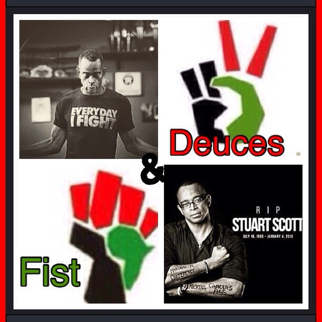 📢 Deuces ✌️➕Fist✊ Much Respect & Love 4 #stuartscott DuSable Town / London Town #realheroeshavescars #cancerwarrior #werepdachi4lyfe ❗️STUART SCOTT[R.I.P.]👉🔝🌍👈  :c
