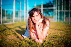 (Isai Alvarado) Tags: park blue light sunset portrait sky woman cinema blur cute green film andy girl beauty grass fashion mouth hair movie nose 50mm model nikon focus dof arms bokeh andrea stock cine lips redhead lovely cinematic softlight d800 50mmf14g