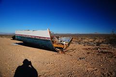 Temple Bar, Arizona (Ali Lampard) Tags: blue shadow arizona cactus boat desert templebar nikkor24mmf28ai