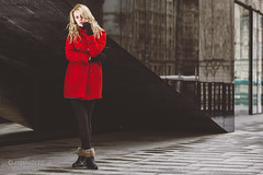 Carla Monaco (Roj) Tags: red building fashion liverpool model coat ocf blonde albertdock bareflash canon5dmkii canonef70200mmf28isiiusm originalphotographer carlamonaco photographersontumblr