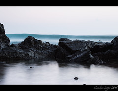 Koki Beach Rocks (Hamilton Images) Tags: sky rock clouds sunrise canon hawaii lava surf waves january maui hana kokibeach 2015 24105mm img3235 leefilter 7dmarkii 09softedgegraduatedneutraldensity