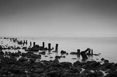 Burbo Bank (S.fendley) Tags: blackandwhite liverpool crosby merseyside anotherplace rivermersey crosbybeach antonygormleysanotherplace seftoncoastline