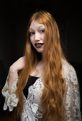 Lovely Alex (anyusernamewouldbenice) Tags: portrait lace blueeyes redhair newspace yaleunion