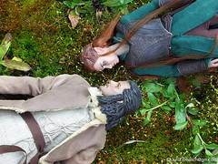 Bard and Tauriel (alegras dolls) Tags: actionfigure bard jrrtolkien frhling thehobbit springfever thelordoftherings 16scale tauriel
