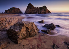 Keyhole Rock at Pfeiffer Beach (dharnan) Tags: ocean california sunset sea beach landscape monterey big long exposure little lee carmel sur filters keyhole hwy1 stacks stopper