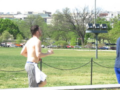IMG_0664 (FOTOSinDC) Tags: shirtless man hot men back candid running sweaty sweat shorts jogging runner jogger