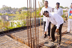 India: Despite recent setbacks from heavy storms, high school construction nears completion (Peace Gospel) Tags: building smile smiling happy hope construction peace joy smiles progress peaceful happiness thankful grateful empowered joyful gratitude sustainability hopeful empowerment empower
