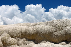 pamukkale clouds (kexi) Tags: blue wallpaper white nature clouds canon turkey rocks may springs pamukkale 2015 instantfave