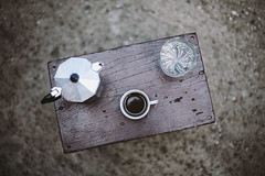 Coffee time (krkojzla) Tags: wood stilllife water coffee analog vintage 50mm chair bokeh retro mug canon5d f18 moka lavazza coffeemaker coffeetime cupofcoffee mokapot bokehlicious coffeemat canon50mmf18stm