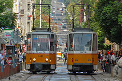 2034, 2035 (Rivo 23) Tags: sofia tram bulgaria tatra t6a2   ckd