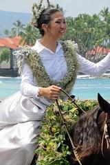 100th Annual King Kamehameha Day Parade (BarryFackler) Tags: life street horse beautiful mammal outdoors island hawaii polynesia outdoor being lei celebration event tropical bigisland tradition rider pau equestrian kona bridle kahoolawe kailuakona 2016 domesticanimal konacoast hawaiicounty horsewoman pauskirt aliidrive hawaiiisland hawaiianculture sandwichislands kingkamehamehaday paurider westhawaii hawaiianhistory northkona hawaiianheritage kingkamehamehadayparade barryfackler barronfackler pauprincess pauprincessofkahoolawe 100thannualkingkamehamehadayparade reinns