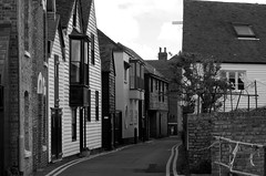 Whitstable street. (pstone646) Tags: road street blackandwhite monochrome architecture buildings kent streetphotography whitstable