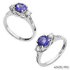 Ring with Sapphire (Azazel.PRO) Tags: woman fashion design store gallery russia moscow style jewelry ring diamond exclusive sapphire gemstone   bijouterie