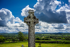 (Ails N hgeartaigh) Tags: ireland sky history cemetery graveyard clouds landscape outside countryside europe cross outdoor religion bluesky historic christian christianity kildare