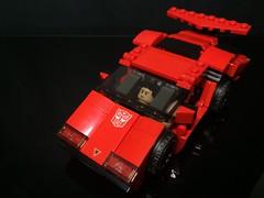 Chibi-Swipe Vehicle Mode w/ minifig (Sam.C MOCs) Tags: lego transformers sideswipe chibi moc mech robot anime scifi car lamborghini countach