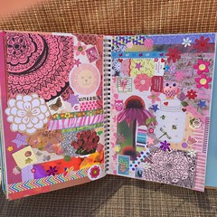 Pink Doodles & Bits Smashbook Pages (stashheap) Tags: pink collage doodles smashbook