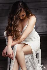 (PinkPetra) Tags: portrait woman white sexy girl lady female canon pose hair 50mm model hungary dress curls sensual curly 7d seduction snowwhite seductive szeged 3p 2016 portraitphotography femine portr portreature pinkpetraphotography horvthpetra